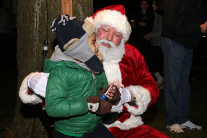 Children took turns sharing their lists with Santa