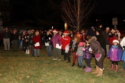 Residents of East Norwalk gather for TTD's annual Christmas Tree Lighting.
